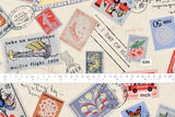 Vintage stamps and letters canvas