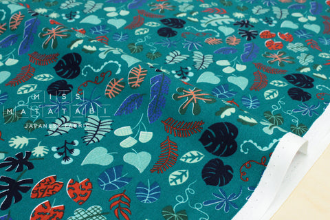 Cotton + Steel Lagoon - leafy wonder teal