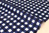 Gingham - navy blue