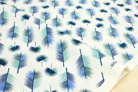 Cotton + Steel Lagoon - unbeleafable blue - fat quarter