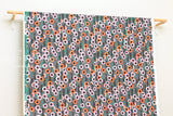 Cotton + Steel Santa Fe - hollyhocks - grey - fat quarter
