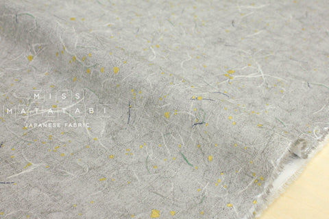 Japanese Fabric metallic washi - grey, metallic gold