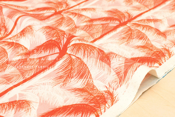 Cotton + Steel Poolside - palms - peach