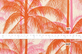 Cotton + Steel Poolside canvas - palms - pink