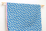 Cotton + Steel Welsummer - fried eggs - bright blue - fat quarter