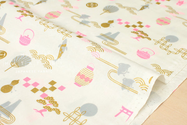 Japanese Fabric Golden Japan Metallic - E