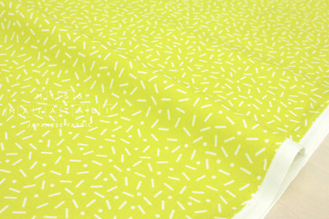 Cotton + Steel Snap to Grid - little pill dot - lemon yellow - fat quarter