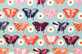 Cotton + Steel Flutter - butterflies - aqua