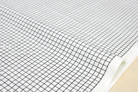 Cotton + Steel Snap to Grid - snap to grid - black, ivory