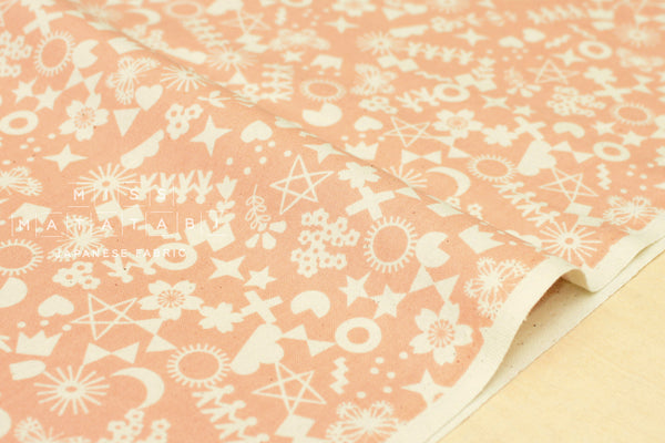 Cotton + Steel Paper Cuts - cut it out - peachy - fat quarter