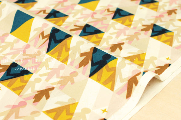 Cotton + Steel Paper Cuts - paper people - sunshine - fat quarter