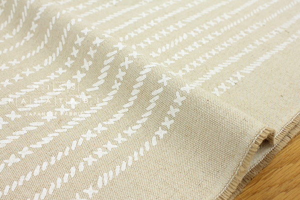 Kokka Kinari Jute cross - white, natural