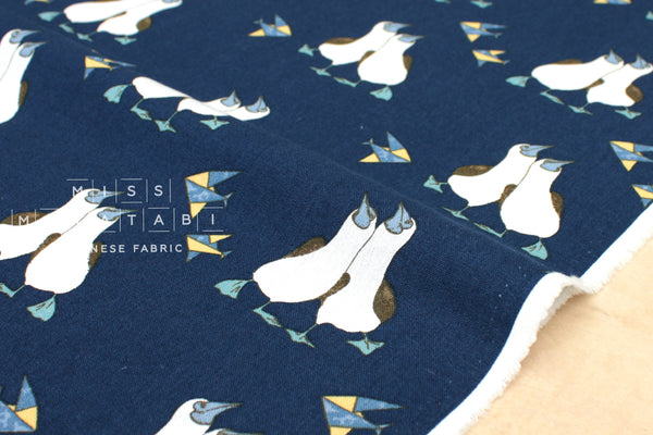 Gannet canvas - navy blue - fat quarter