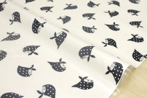 Kerchief Girls laminated - black