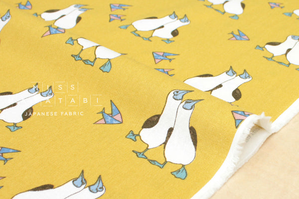 Gannet canvas - mustard - fat quarter