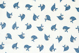 Kerchief Girls laminated - blue