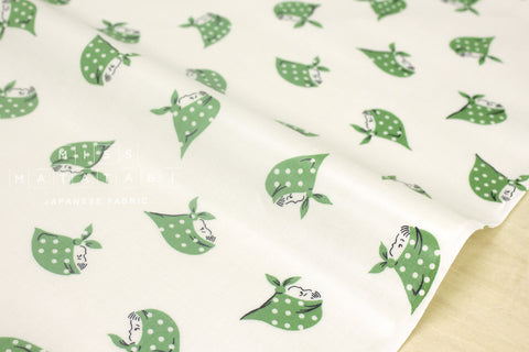 Kerchief Girls laminated - green
