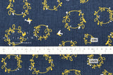 Nina Flower Garland - navy blue
