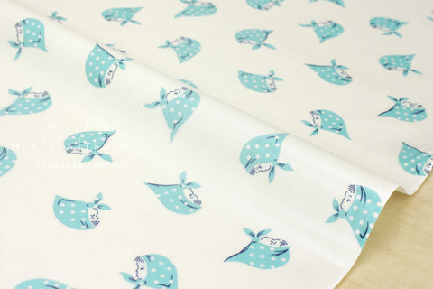 Kerchief Girls laminated - aqua