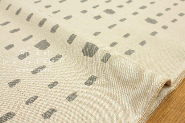 Kokka Kinari Jute dash - grey, natural