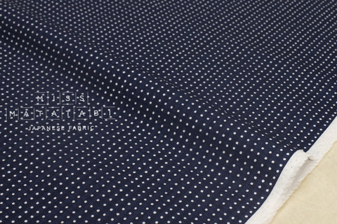 Tiny dots - navy blue