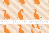 Kokka Toy Fabrics - duck - orange - fat quarter