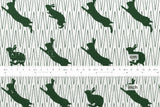 Kokka Toy Fabrics - rabbit - green