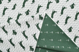 Kokka Toy Fabrics - rabbit - green - fat quarter