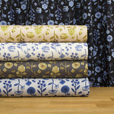 Kokka Trefle Cucito - watercolor garden double gauze - navy blue