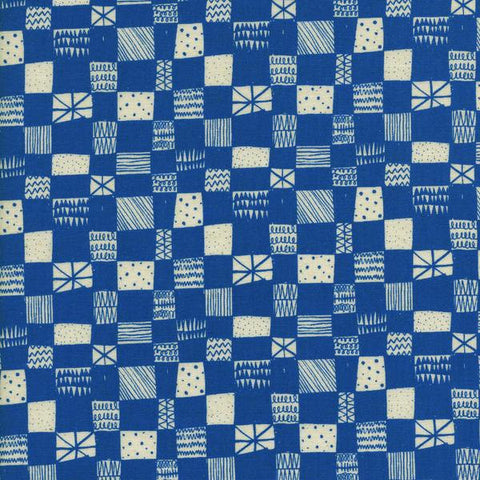 Cotton + Steel Print Shop - grid blue