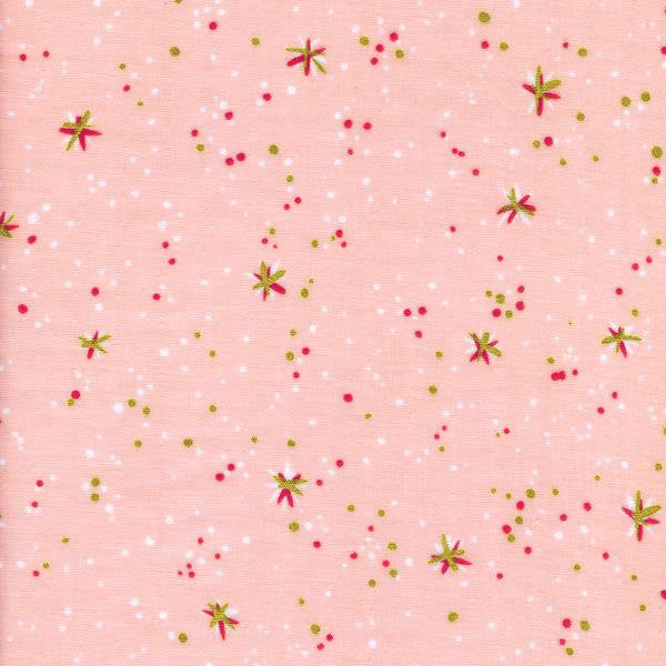 Cotton + Steel Rotary Club double gauze - space thistles pink