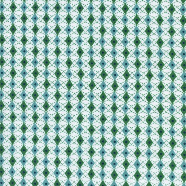 Cotton + Steel Rotary Club - facets - blue green - fat quarter