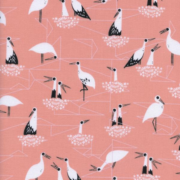 Cotton + Steel From Porto With Love - stork nest pink - fat quarter