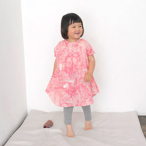 nani IRO Japanese sewing pattern - Kids French sleeve dress