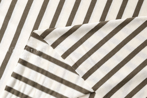 Jersey Knit Stripes - khaki