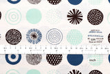Maru Circles - cream, blue, mint - fat quarter