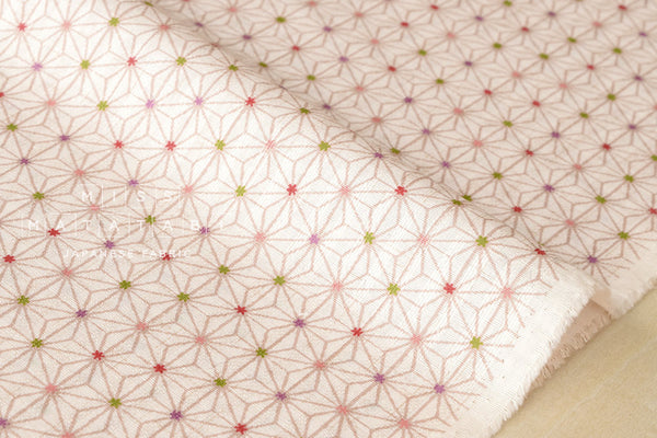 Japanese Fabric Traditional Asa flower II - pink cream