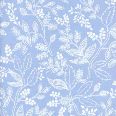 Cotton + Steel Les Fleurs - Queen Anne - pale blue