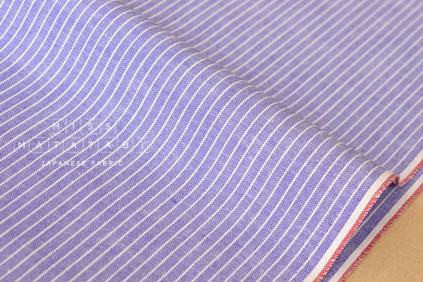Yarn dyed selvedge cotton - purple
