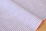 Yarn dyed selvedge cotton stripes - purple