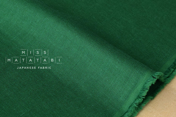 Kobayashi solid double gauze - green