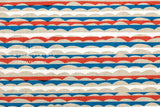 Waves canvas - red, blue, white
