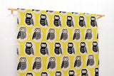Giant Owls canvas - yellow, black, taupe
