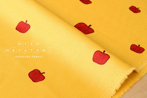 Kiyohara Apples twill - mustard, red