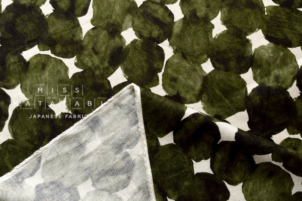 Painted Spots - olive green