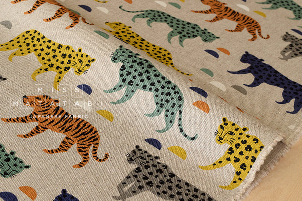 Big Cats - green, yellow, grey, orange
