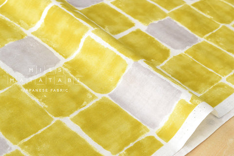 Kokka Trefle Windows double gauze - yellow