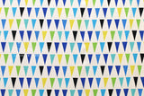Bunting canvas - blue, green