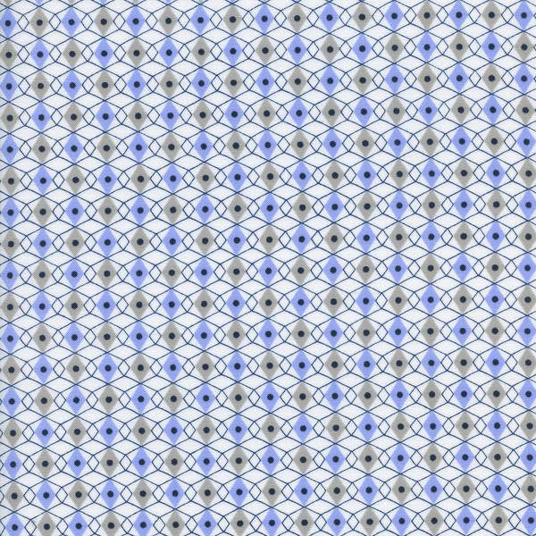 Cotton + Steel Rotary Club - facets - periwinkle - fat quarter