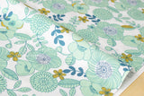 Retro garden - mint - fat quarter